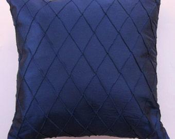 Navy Blue Pillow Cover -- Navy Blue Diamond Cushion Cover -- 18 x 18