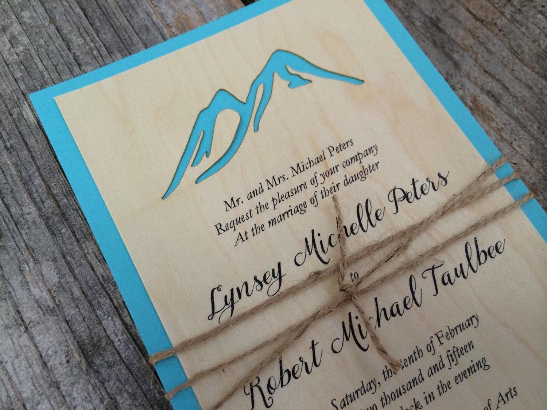 Winter Wedding Invitation, Mountain Invitation, Ski Lodge, Winter ...