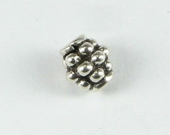 Berry Beads - Bali Sterling Silver 6mm (2 beads)