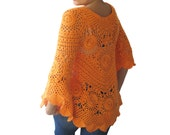 NEW! Orange Crochet Sweater by Afra