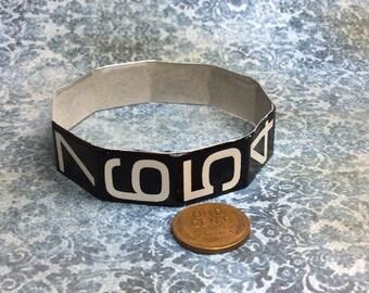 Real Steampunk handmade numbered bangle  bracelet from cash register - Mechanical Romance -
