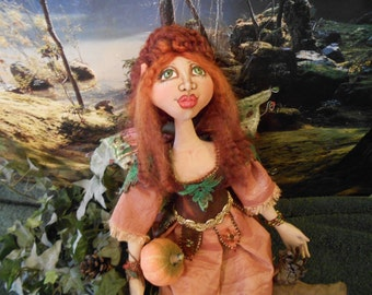 Zyta, A Cloth Art Doll by Liz Parent