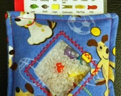 I Spy Bag - Mini with SEWN Word List and Detachable PICTURE LIST- Dogs and Balls