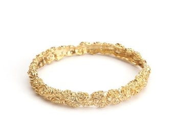 Rose Encrusted Bangle