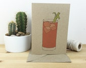 bloody mary cocktail card (with recipe) 100% recycled