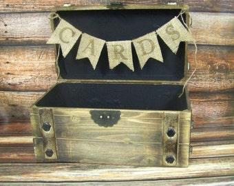 Rustic Wedding Card Box, Western Wedding Decor, Wedding Keepsake Box, Wooden Card Box