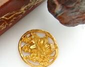 BRASS LEAF - Grape Leaf Wreath Brass Stampings - Jewelry Ornament Findings (FB-6041) #