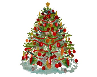 Christmas Tree with Star JPEG file instant download
