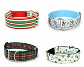 "1.5"" dog collar You Design It Christmas martingale or buckle collar"