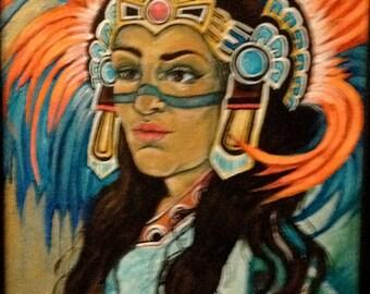 Aztec Girl  print
