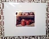 Polaroid transfer - Pumpkins in fall