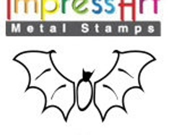 Design Stamp - BAT - 6mm stamped image by ImpressArt -  includes How to Stamp Metal tutorial