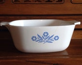 Cornflower Blue Corning Ware Casserole Dish, P-1-1/2-B