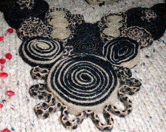 Standing Wool Necklaces - Primitive Funk - Sculpted in Wool - One-of-a-Kind