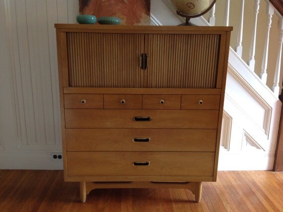 Mid Century Danish Modern Highboy Dresser By