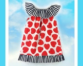 Beautiful Sewing Pattern with Tutorial Ruffled Neckline Top/Dress with ruffles sizes 6m -12 girls PDF
