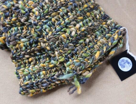 Earth Goddess - handmade Italian Merino wool scarf