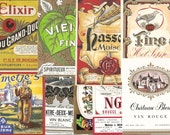 55 different Old 1930's+ European WINE & LIQUOR LABELS.
