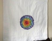 Hundreds and Thousands Rainbow Quilt, Confetti Quilt, Rainbow Wallhanging