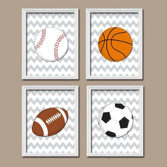 Basketball Sports Canvas Wall Art For Boys Bedroom Decor: SPORTS Wall Art CANVAS Or Prints Boy Nursery Kid Child Balls
