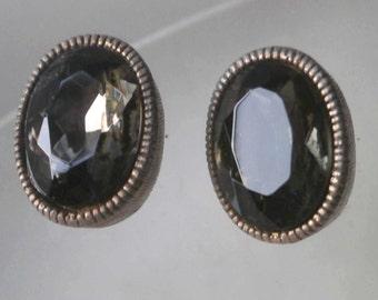 Vintage 70's Topaz Earrings