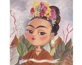 """Mimi as """"Frida Kahlo"""" Giclee Fine Art Print, Painting, Giclée"""