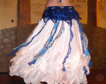 Spiral Fringe Accent Skirt Print at Home PDF Sewing Pattern for Belly Dancers