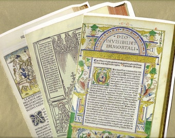 Rare Book Catalog Snippets for Paper Arts, Collage, Scrapbooking and MORE