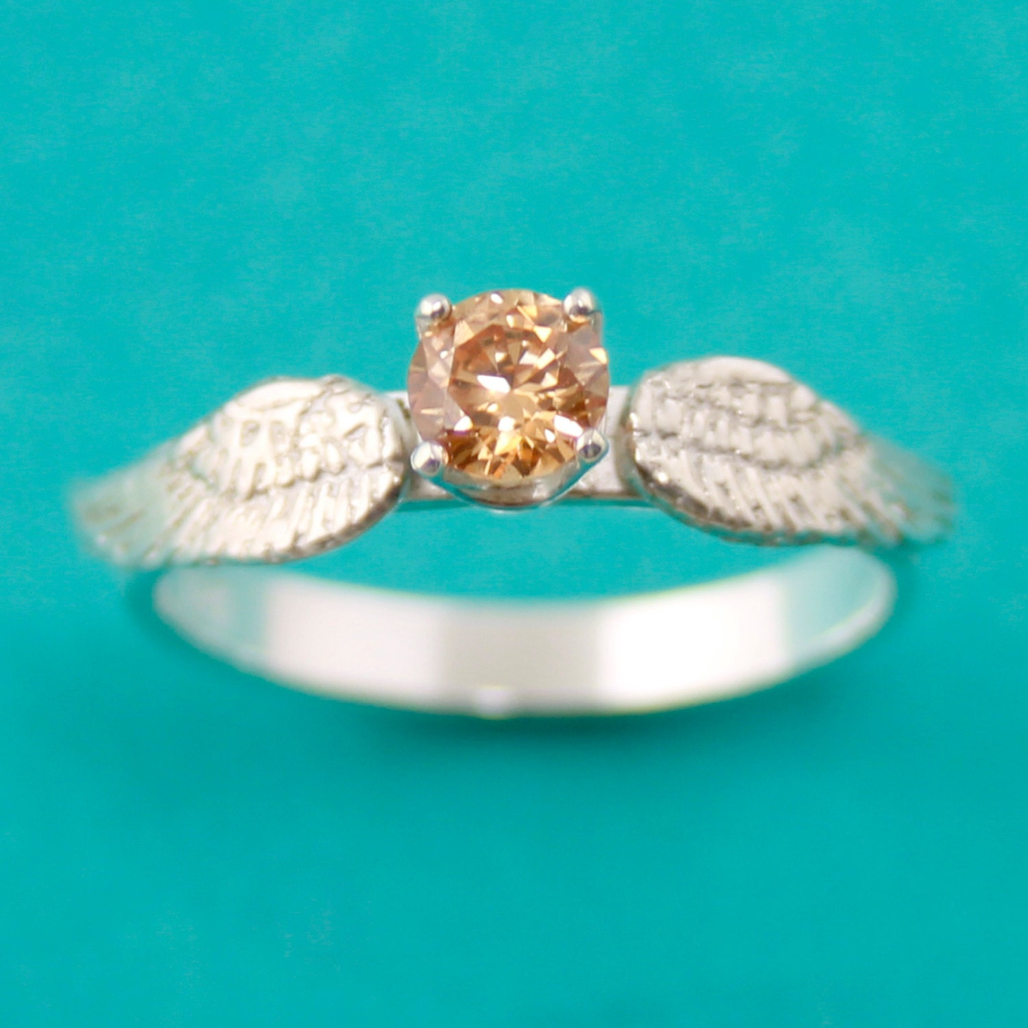 golden snitch ring engagement ring by spiffingjewelry