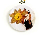"Leo - big pinback button 2.3"" (59 mm)"