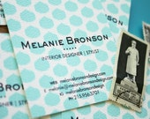 Round Ikat Calling Card  / Business Card / Mommy Card Single Sided - set (50)