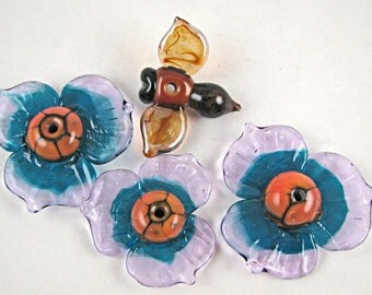 Three And A Bee Lampwork Bead Set