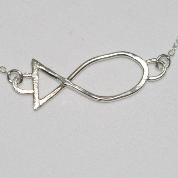 jesus fish necklace ichthus necklace faith jewelry