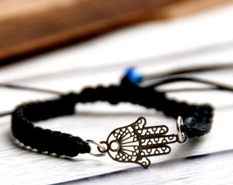 Hamsa bracelet, evil eye protection kabbalah madona hamsa bracelet