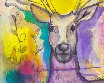 Rainbow Deer - Print