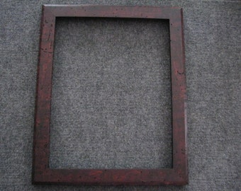 11x14  Light Curly Maple with worm tracks and Reddish Brown Dye Picture Frame YXY