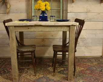 Dining room table driftwood table 54 x 30 x 30 for Dining room tables 36 x 54