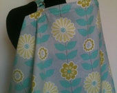 Nursing Cover-Gray Yellow Zinnia