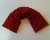 Heat pad ,Microwave Heat Pack / Flax Seed,Mint, Lavender -Red Black Dot