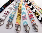 Monogram Lanyards ONE Letter Applique, Personalized Monogrammed Gift Lanyard, Teacher Gift, Nurse Gift, Group Lanyard Gift, Student Lanyard