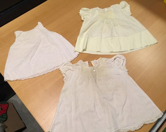 Lot of 3 Vintage Children's Girls  Dresses
