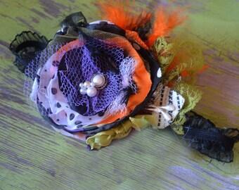 SALE Halloween Headband, Girls Headbad, Infant Headband, Halloween baby headband, Fall headband, Hauted Halloween Headband READY to SHIP