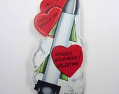 Vintage Unused Children's Novelty Valentine Card with Space Missile Rocket Ship