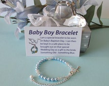 Christening Bracelet Baby Boy Baptism Bracelet Baby to Bride®  BTB20