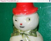 On Sale Now Vintage Gurley Snowman Candle, Frosty The Snowman, Christmas Tradition, Gurley Candle