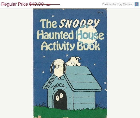 Haunted House Browser Game: Vintage 1979 The Snoopy Haunted House Activity By