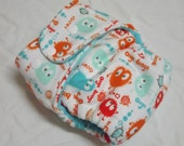 Petite One Size Fitted Cloth Diaper Guppy Ooga 8-20 lbs