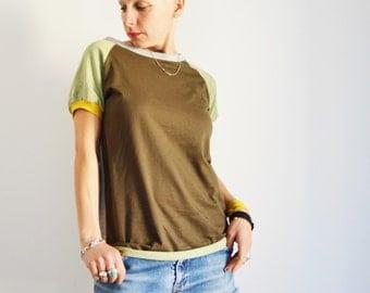 Handmade T shirt , t shirts, women t shirt, clothing for women,cool t shirt, organic cotton t shirt