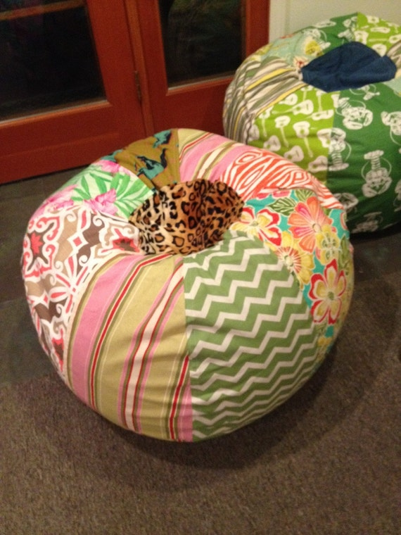 Funky Horse And Floral Patterns Cowgirl Bean Bag Chair By
