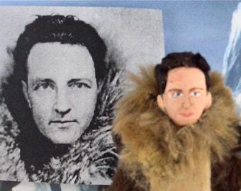 Richard Byrd Historical Doll Miniature Art Arctic Explorer